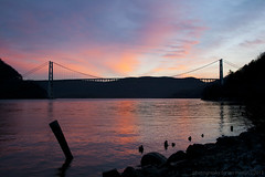 Bear Mountain Sunset (imartin92) Tags: bridge sunset newyork river bearmountain valley hudson fortmontgomery