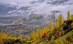 Hunza in Fog (Shehzaad Maroof Khan) Tags: autumn pakistan mountain snow fog clouds nikon hill karakoram hunza karimabad hunzariver aliabad beautifulpakistan gilgitbaltistan