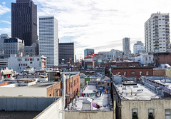 Yonder & yore (Foodo Dood) Tags: fujifilm xt1 35mm pingyuen chinatown projects sf financialdistrict skyline rooftop nostalgia panorama upbringing clothesline