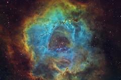Rosette Nebula - NGC 2237 (Manifest Stephanie) Tags: cffaa deepsky rosette night sky nebula telescope astrophotography ngc2237 narrowband cosmos astrometrydotnet:id=nova1901649 astrometrydotnet:status=solved
