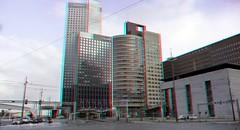 Wilhelminaplein Rotterdam 3D (wim hoppenbrouwers) Tags: wilhelminaplein hyperstereo anaglyph redcyan rotterdam 3d