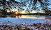 Eivindsvatnet, Norway (Vest der ute) Tags: xt2 norway rogaland haugesund djupadalen sunrise earlymorning sky trees water waterscape snow winter reflections fav25