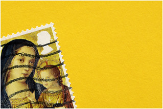 Macro Mondays - Corner - 2nd Class Stamp 'Madonna and Child'