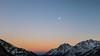Good night, Arlberg (agruebl) Tags: goodnightarlberg goodnight ahlberg stanton sunset sonnenuntergang sky himmel mond moon berge mountains winter snow einsam secluded tirol österreich tyrol austria autriche montagne neige coucherdesoleil lune ciel