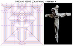 ORIGAMI - JESUS (Crucifixion) - CP + Photo-diagrams !! (Neelesh K) Tags: origami jesus crucifixion steps cp diagrams box pleating neelesh k christmas happy holidays christ