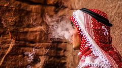Bedouin Smoker (agustinlizana) Tags: bedouin petra jordan jordania smoking sea desert desierto recorriendo nature turbante person peaceful man