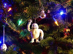 Abominable (alansurfin) Tags: ornaments christmastree snowman abominable yeti colors lights
