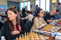 Nino Batsiashvili, Hou Yifan, Matthias Womacka (Johnchess) Tags: 29january2017 round6 tradewisegibraltarmasters
