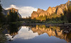 Yosemite Valley mirror (clasch) Tags: yosemite national park california usa united states america valley mirror reflection merced river water landscape el capitan cathedral rocks sunset mountain nature nikon d7000 nikkor 1224