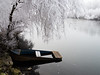Winter days at the river (Niclas Matt) Tags: river winter water coldwater snow white raureif nice boat wreck