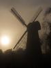 A foggy sunset at the Mill. (Owen Llewellyn) Tags: cygnusimaging london lambeth brixton ashbymill ashbysmill windmill canon eos1dx 1dx heritage urban southlondon fog foggy sunset
