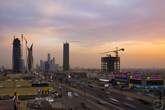 Riyadh New Downtown Skyline Jan-21-17 (Bader Otaby) Tags: nikon d7100 riyadh skyscraper skyline cityscape nightscape ruh photography ksa gcc art architecture leed kafd sunset blue hour amazing 18200 1116 sigma samyang 8mm tokina supertall megatall cma hok kkia dxb dubai uae doh doha qatar bahrain manamah burj khalifah downtown city center modern rafal kempinski hotel flamingo sculpture chicago illinois usa travel summer loop central cta ord ny jfk kfnl kapsarc