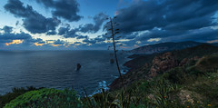 Pan di Zucchero da Nebida (_ Nemo _) Tags: pandizucchero nebida sardinia sardegna seascape dusk rocks wind clouds cloudy sulcisiglesiente bluehour panorama panoramic landscape