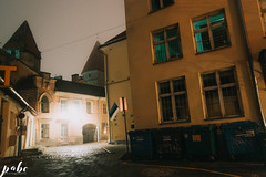66-9070 (qauqe) Tags: vsco vscocam portra lightroom photography night time black white graffiti street urban old town tallinn estonia car vintage retro lights flare bokeh architecture tribe archipelago lxc kevin klein kln presets panorama