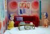 Living room (omgdolls) Tags: sonny angels wiener wednesday owl tiger