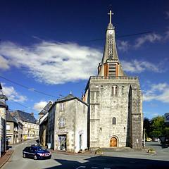 Saint-Vaury, Creuse, France (pom.angers) Tags: panasonicdmctz30 august 2015 saintvaury guéret 23 creuse nouvelleaquitaine france europeanunion police church postoffice gendarmerie 100