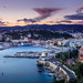 Colourful Nice (.remfer06) Tags: 35mm nice sunset cotedazur sony a7 mer sea seaside harbour phare france french frenchriviera ciel sky nuages clouds town ville coucher soleil