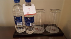 Bottled Water and Glasses, Room 136, Bailey's Hotel, Gloucester Road, South Kensington, London (f1jherbert) Tags: samsunggalaxys6 samsunggalaxy samsungs6 galaxys6 samsung galaxy s6 london england