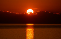 Sunset (Vagelis Pikoulas) Tags: sun sunset moment capture clouds sea red golden seascape landscape march spring 2017 porto germeno greece europe canon 6d tamron 70200mm vc lightroom