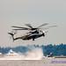CH-53 Kicking Up Lake Washington Spray