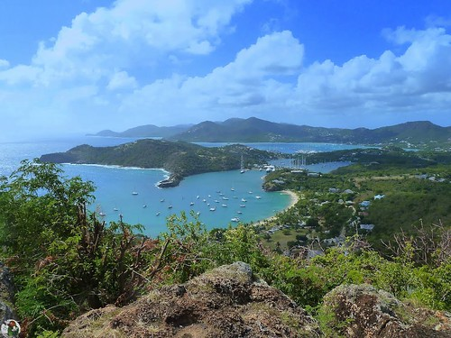 Antigua - View from Shirley Heights - English Harbor - Falmouth Harbor - Galleon Beach