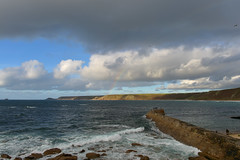 England 332 Sennen cove (Pixelkids) Tags: sennencove cornwall cornishcoast uk england beacg strand meer regenbogen rainbow clouds