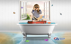 Carlos Atelier2 - Fantasia (Carlos Atelier2) Tags: carlos atelier2 fantasia criança menina mala banheira água borboleta