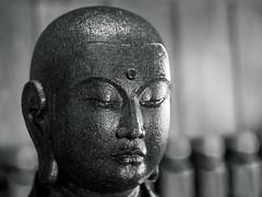 Choan Jizo (campra) Tags: japan hakone 箱根 kanagawa 神奈川 choanji buddhist temple blackandwhite bw statue sculpture stone 長安寺 jizo