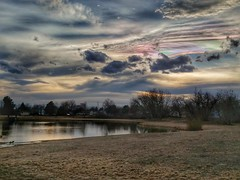 March 10, 2017 - Stunning iridescent clouds at sunset. (Allan Jeffers)