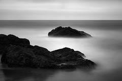 Pacific Dyad (StefanB) Tags: 1235mm 2016 bw california coast em5 geotag horizon hwy1 longexposure monochrome outdoor pacific sea seascape