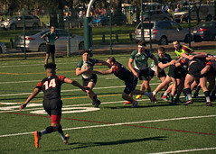 Marshall v. Blackhorse (SUNY-Fredonia) (Mike McCall) Tags: copyright2017mikemccall stpatricksdayrugbytournament 2017 savannah chathamcounty georgia usa marshall thunderingherd herd sunyfredonia blackhorse rugby sport sports men daffinpark university college