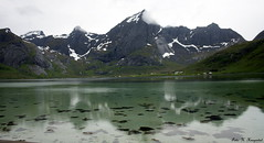 Pure (K. Haagestad) Tags: sea snow mountains nature water norway reflections clean lofoten