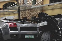 Lambo vs. Yamaha (Justin Young Photography) Tags: cars philippines bikes yamaha lamborghini gallardo