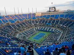 Arthur Ashe Stadium @ USTA tennis center, Flushing Meadows - New York City (darlanbarbosa22) Tags: nyc summer newyork sports action manhattan queens tennis empirestate bigapple eastcoast usopen