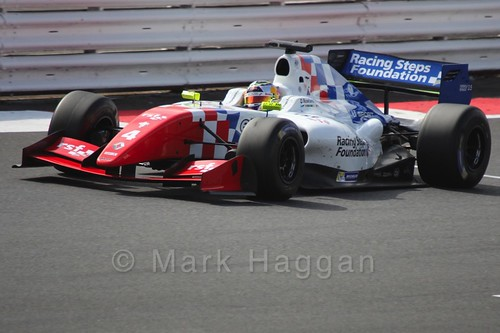 Oliver Rowland in Saturday's Formula Renault 3.5 Race at Silverstone