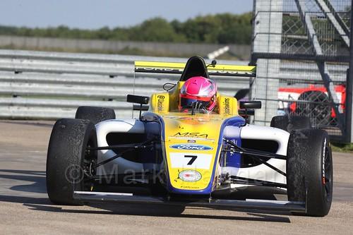 Jessica Hawkins in MSA Formula at Rockingham, September 2015