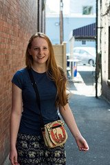Emily (Boris Shirman) Tags: city friends red portrait people ny brick college ginger cool downtown photographer rochester boris hi matching d7100 shirman