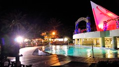 Colors in the Night  1 (jlau_lau) Tags: ocean light sea summer holiday building beach water pool night swimming sand taiwan resort villa late  facility chateau    kenting      pingtung