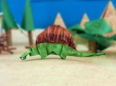 Origami Dimetrodon (joostlangeveld) Tags: paper cool origami dino dinosaur folded dimetrodon dinogami