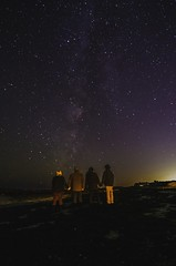 Hands Across the World (c.london) Tags: nightphotography friends portrait night stars capecod space astro astrophotography harwich milkyway holdhands