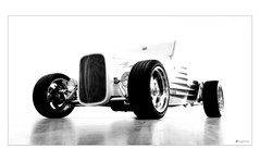 heavy hitter... (Stu Bo) Tags: blackandwhite white art ford car artwork wheels dreamgarage machine hotrod warrior highkey topaz carphotography coolcar cs3 carart lowboy dreamcar artisticexpression worldcars certifiedcarcrazy