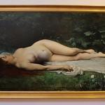 La Rochelle, Musée des beaux arts, Henri Gervex, la baigneuse endormie, 1873, 111x201 cm thumbnail