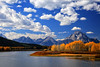 Autumn at Oxbow Bend II, Grand Tetons (louelke - on and off) Tags: autumn fall colors fallcolors snakeriver aspens cottonwoods grandtetonnationalpark oxbowbend mtmoran