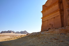 Rock cut tombs in Mada'in Saleh (kineky1) Tags: rock landscape desert tomb saudi arabia saleh madain