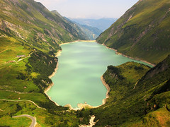 Wasserfallboden Reservoir - Kaprun, Austria (Batikart) Tags: travel summer vacation sky cloud house mountain holiday alps building green nature berg grass weather rock rural canon way landscape geotagged austria sterreich flora europa europe peace natural hiking path walk dam sommer wildlife urlaub natur meadow wiese himmel wolke sunny august reservoir formation growth chalet geology fels alpen ursula landschaft wandern weg reise sander g11 kaprun stausee staumauer geologie 2015 berghtte hohetauern 100faves 200faves wasserfallboden 300faves batikart canonpowershotg11