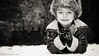 Jona (FotoVerbeke.com) Tags: naturallight portrait winter ipad portfolio blackandwhite model location kids boy snow