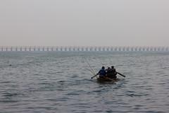 In search of Livelihood (Arpa Ghosh) Tags: vijayawada andhra pradesh bhavani island undavalli caves heritage capital city amravati prakasam barrage dam krishna river water sport
