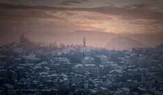 Winter Sunset (blooddrainer) Tags: winter sunset nature cityscape sky clouds sun fog plovdiv bulgaria