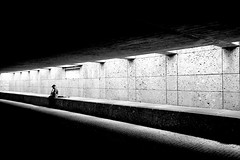 The Musician (CoolMcFlash) Tags: street streetphotography person bw blackandwhite blackwhite gangway munich germany musician artist alone canon eos 60d sw schwarzweis durchgang münchen deutschland musiker strasenmusiker künstler fotografie photography candid sigma 1020mm 35