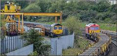 Basic Ingredients (Terry 47401) Tags: 60024 class60 66585 class66 08588 cass 08 washwood heath ready mix concrete sleeper depot rails eastleigh train railway